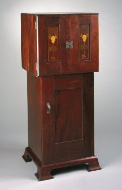 Possibly Harvey Ellis (1852-1942). <em>Music Cabinet</em>, 1902-1904. Mahogany, 48 3/4 x 20 x 18 5/8 in. (123.8 x 50.8 x 47.3 cm). Brooklyn Museum, Gift of Edgar O. Smith, 83.227. Creative Commons-BY (Photo: Brooklyn Museum, 83.227_IMLS_SL2.jpg)