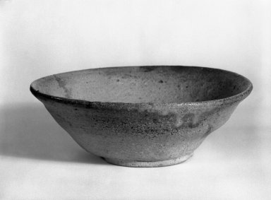 <em>Yamajawan (Mountain Tea Bowl)</em>, 12th century. Ceramic, Tokoname ware, H: 2(5.1 cm). Brooklyn Museum, Gift of Dr. Malcolm Idelson, 83.237.5. Creative Commons-BY (Photo: Brooklyn Museum, 83.237.5_bw.jpg)