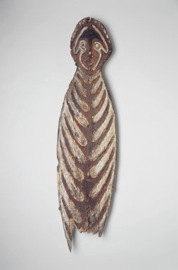 <em>Ancestral Board (Gope)</em>. Wood, pigment, 53 1/2 x 14 1/2 in. (135.9 x 36.8 cm). Brooklyn Museum, Gift of Marcia and John Friede and Mrs. Melville W. Hall, 83.246.2. Creative Commons-BY (Photo: Brooklyn Museum, 83.246.2.jpg)