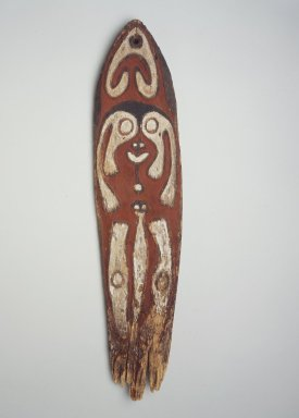 Era River. <em>Spirit Board (Gope)</em>, early 20th century. Wood, natural pigments (red, white, and black), 33 1/16 in. (84 cm). Brooklyn Museum, Gift of Marcia and John Friede and Mrs. Melville W. Hall, 83.246.4. Creative Commons-BY (Photo: Brooklyn Museum, 83.246.4.jpg)