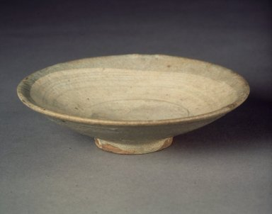 <em>Bowl</em>, last half of 15th-16th century. Buncheong ware, stoneware, Height: 1 1/4 in. (3.2 cm). Brooklyn Museum, Anonymous gift, 83.32.3. Creative Commons-BY (Photo: Brooklyn Museum, 83.32.3.jpg)