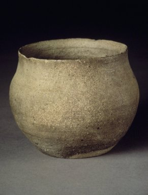 <em>Jar</em>, 6th century. Stoneware, Height: 3 1/16 in. (7.8 cm). Brooklyn Museum, Anonymous gift, 83.32.4. Creative Commons-BY (Photo: Brooklyn Museum, 83.32.4.jpg)