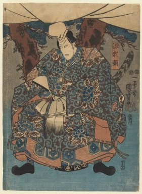 Kuniyoshi Ichiyusai (Japanese, 1797-1861). <em>Actor as Minamoto Yoritomo</em>, 1849-1850. Color woodblock print on paper, 13 3/8 x 9 3/4 in. (34 x 24.8 cm). Brooklyn Museum, Gift of Margaret Ramey, 83.65.1 (Photo: Brooklyn Museum, 83.65.1_IMLS_PS3.jpg)