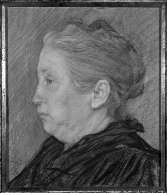 Théo van Rysselberghe (Belgian, 1862-1926). <em>Portrait of Madame Monnom</em>, ca. 1890. Pastel on paper, 13 3/4 x 11 7/8 in. Brooklyn Museum, Purchased with funds given by William K. Jacobs, Jr., 83.70.2 (Photo: Brooklyn Museum, 83.70.2_bw.jpg)
