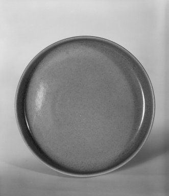 "Russel Wright (American, 1904-1976). <em>Bowl ""American Modern"" Pattern</em>, ca. 1937. Earthenware with pink glaze, 1 3/8 x 7 1/16 in. (3.5 x 17.9 cm). Brooklyn Museum, Gift of Paul F. Walter, 84.124.4. Creative Commons-BY (Photo: Brooklyn Museum, 84.124.4_bw.jpg)"