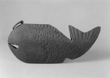 <em>Pothook Adjuster in the Form of a Tai (Sea Bream)</em>, 19th century. Wood, 7 x 16 in. (17.8 x 40.6 cm). Brooklyn Museum, Gift of Dr. John P. Lyden, 84.139.13. Creative Commons-BY (Photo: Brooklyn Museum, 84.139.13_bw.jpg)