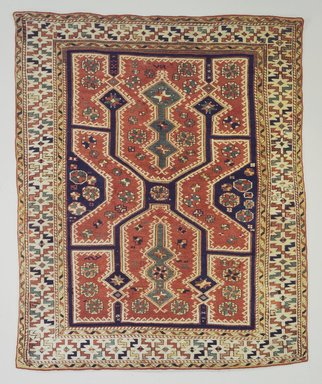 <em>Bergama Type Carpet</em>, 19th century. Cotton and wool, 73 x 60 in. (185.4 x 152.4 cm). Brooklyn Museum, Bequest of Mrs. Joseph V. McMullan, gift of the Beaupre Charitable Trust in memory of Joseph V. McMullan, 84.140.1. Creative Commons-BY (Photo: Brooklyn Museum, 84.140.1.jpg)
