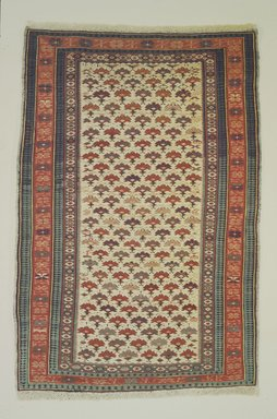 <em>Kuba Type Carpet</em>, early 19th century. Wool, 62 1/2 x 42 1/2 in. (158.8 x 108 cm). Brooklyn Museum, Bequest of Mrs. Joseph V. McMullan, gift of the Beaupre Charitable Trust in memory of Joseph V. McMullan, 84.140.10. Creative Commons-BY (Photo: Brooklyn Museum, 84.140.10.jpg)