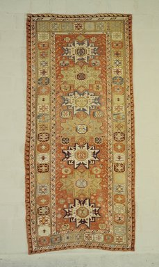 <em>Sumak Carpet</em>, 19th century. Wool, 123 x 57 in. (312.4 x 144.8 cm). Brooklyn Museum, Bequest of Mrs. Joseph V. McMullan, gift of the Beaupre Charitable Trust in memory of Joseph V. McMullan, 84.140.14. Creative Commons-BY (Photo: Brooklyn Museum, 84.140.14.jpg)