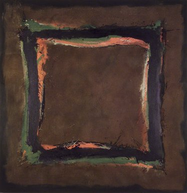 Cleve Gray (American, 1918-2004). <em>Roman Wall</em>, 1981. Acrylic and sawdust on canvas, 92 x 90 in. (233.7 x 228.6 cm). Brooklyn Museum, Gift of Roy R. Neuberger, 84.148. © artist or artist's estate (Photo: Brooklyn Museum, 84.148.jpg)