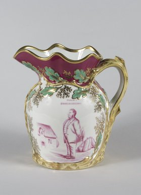 <em>Pitcher</em>, ca. 1850-1860. Porcelain, 9 1/2 x 9 3/4 x 6 1/2 in. (24.1 x 24.8 x 16.5 cm). Brooklyn Museum, Gift of Mr. and Mrs. Jay Lewis, 84.176.2. Creative Commons-BY (Photo: Brooklyn Museum, 84.176.2_PS5.jpg)