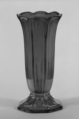 <em>Vase</em>, mid-19th century. Earthenware with lustre glaze, Other: 6 1/4 x 3 in. (15.9 x 7.6 cm). Brooklyn Museum, Gift of Paul F. Walter, 84.178.12. Creative Commons-BY (Photo: Brooklyn Museum, 84.178.12_bw.jpg)