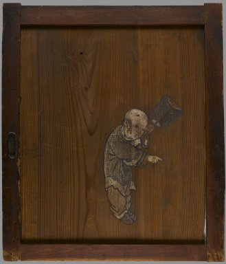 <em>Karako (Chinese Male Child)</em>, 18th century. Ink and color on Sugi (Cryptomeria wood), 24 x 20 3/4 in. (61 x 52.7 cm). Brooklyn Museum, Gift of Dale Jenkins, 84.192.3. Creative Commons-BY (Photo: Brooklyn Museum, 84.192.3_IMLS_PS4.jpg)
