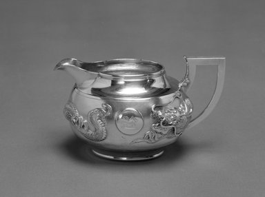 Zeeho. <em>Export Creamer</em>, early 20th century. Silver, 3 1/2 x 6 in. (8.9 x 15.2 cm). Brooklyn Museum, Gift of Stanley J. Love, 84.195.24. Creative Commons-BY (Photo: Brooklyn Museum, 84.195.24_bw.jpg)