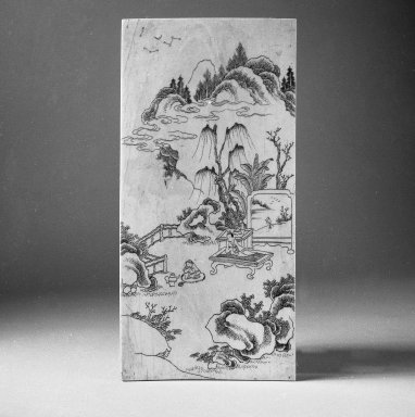 <em>Table Screen</em>, 16th-17th century. Ivory and wood, 7 7/8 x 3 7/8 in. (20 x 9.8 cm). Brooklyn Museum, Gift of Stanley J. Love, 84.195.3. Creative Commons-BY (Photo: Brooklyn Museum, 84.195.3_bw.jpg)