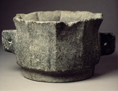 <em>Brazier</em>, 19th century. Stone / slate, 6 x 11in. (15.2 x 27.9cm). Brooklyn Museum, Gift of Dr. and Mrs. John P. Lyden, 84.196.16. Creative Commons-BY (Photo: Brooklyn Museum, 84.196.16.jpg)
