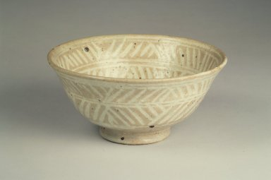 Seon-Gil Seo (born 1910). <em>Tea Bowl with Hori-Mishima Style</em>, 20th century. ceramic, 2 3/4 x 6 in.  (7.0 x 15.2 cm). Brooklyn Museum, Gift of Dr. and Mrs. John P. Lyden, 84.196.8. Creative Commons-BY (Photo: Brooklyn Museum, 84.196.8.jpg)