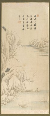 Kim U-beom (Korean). <em>Landscape</em>, 19th century. Ink and light color on paper, 30 5/16 x 13 in. (77 x 33 cm). Brooklyn Museum, Gift of John M. Lyden, 84.197.3 (Photo: Brooklyn Museum, 84.197.3_PS4.jpg)