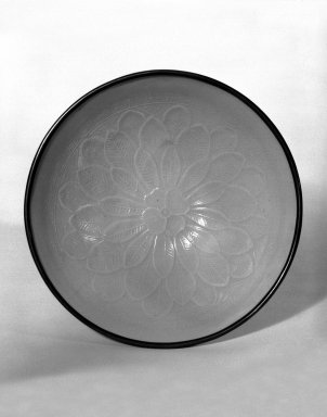 <em>Bowl</em>, 11th century. Porcelain, 1 7/8 x 4 7/8 in. (4.8 x 12.4 cm). Brooklyn Museum, Gift of Dr. Ralph C. Marcove, 84.198.17. Creative Commons-BY (Photo: Brooklyn Museum, 84.198.17_bw.jpg)
