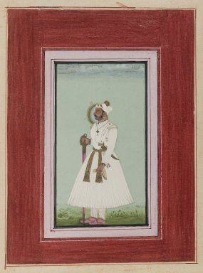 Indian. <em>Portrait of Rao Vir Singh</em>, ca. 1780-1790. Opaque watercolor and gold on paper, sheet: 12 x 9 in.  (30.5 x 22.9 cm). Brooklyn Museum, Anonymous gift, 84.201.10 (Photo: Brooklyn Museum, 84.201.10_IMLS_PS4.jpg)