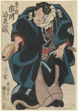 Utagawa Kunisada (Toyokuni III) (Japanese, 1786-1865). <em>Actor Ichikawa Ebizō V</em>, 1840-1849. Color woodblock print on paper, 14 3/8 x 10 in. (36.5 x 25.4 cm). Brooklyn Museum, Gift of Mr. and Mrs. Peter P. Pessutti, 84.202.7 (Photo: Brooklyn Museum, 84.202.7_IMLS_PS3.jpg)