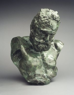 Auguste Rodin (French, 1840-1917). <em>Monumental Bust of Victor Hugo</em>, 1902; cast 1970. Bronze, 28 1/2 x 23 3/8 x 21 1/2 in.  (72.4 x 59.4 x 54.6 cm). Brooklyn Museum, Gift of the Iris and B. Gerald Cantor Foundation, 84.210.3. Creative Commons-BY (Photo: Brooklyn Museum, 84.210.3_transp6249.jpg)