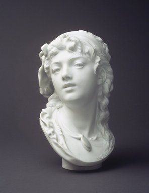 Auguste Rodin (French, 1840-1917). <em>Suzon</em>, before 1875; produced 1875-1939. White bisque, 11 x 6 1/8 x 6 1/4 in.  (27.9 x 15.6 x 15.9 cm). Brooklyn Museum, Gift of the Iris and B. Gerald Cantor Foundation, 84.210.5. Creative Commons-BY (Photo: Brooklyn Museum, 84.210.5_transp6255.jpg)