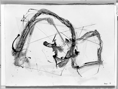 Cleve Gray (American, 1918-2004). <em>Zen #4</em>, 1981. Ink and wash on paper, 22 1/4 x 30 in. (56.5 x 76.2 cm). Brooklyn Museum, Gift of Robert T. Buck, 84.221.1. © artist or artist's estate (Photo: Brooklyn Museum, 84.221.1_bw.jpg)