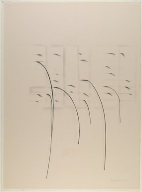 Agustin Fernandez (Cuban, 1928-2006). <em>Untitled</em>, 1973. Graphite on paper, 30 1/8 x 22 1/2 in. (76.5 x 57.2 cm). Brooklyn Museum, Gift of Joseph Novak, 84.234.3. © artist or artist's estate (Photo: Brooklyn Museum, 84.234.3_PS6.jpg)