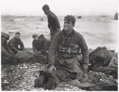 Walter Rosenblum (American, 1919-2006). <em>D Day Morning, Omaha Beach, 1944</em>, 1944. Gelatin silver photograph, sheet: 11 × 14 in. (27.9 × 35.6 cm). Brooklyn Museum, Gift of Lisa Rosenblum, 84.236.5. © artist or artist's estate (Photo: Brooklyn Museum, 84.236.5_PS6.jpg)