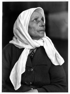 Lewis Wickes Hine (American, 1874-1940). <em>Woman. Ellis Island, New York</em>, 1904. Gelatin silver photograph, image: 13 1/2 x 9 7/8 in. (34.3 x 25.1 cm). Brooklyn Museum, Gift of Walter and Naomi Rosenblum, 84.237.3 (Photo: Brooklyn Museum, 84.237.3_bw.jpg)