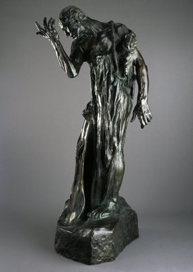 Auguste Rodin (French, 1840-1917). <em>Pierre de Wiessant, Monumental (Pierre de Wissant, monumental)</em>, 1887; cast 1979. Bronze, 84 5/8 x 46 x 39 in., 567 lb. (214.9 x 116.8 x 99.1 cm). Brooklyn Museum, Gift of Iris and B. Gerald Cantor, 84.243. Creative Commons-BY (Photo: Brooklyn Museum, 84.243_SL1.jpg)