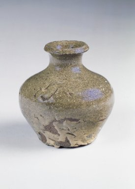 <em>Bottle</em>, 14th century. Stoneware, Height: 3 9/16 in. (9 cm). Brooklyn Museum, Gift of John M. Lyden, 84.262.23. Creative Commons-BY (Photo: Brooklyn Museum, 84.262.23.jpg)