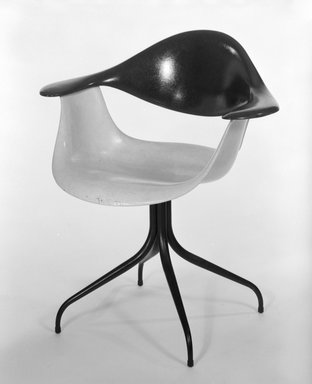 Charles Pollock (American, 1930-2013). <em>Armchair, Model DAF</em>, ca. 1956. Fiberglass, steel, rubber, 31 1/2 x 28 1/2 x 21 3/4 in. (80 x 72.4 x 55.2 cm). Brooklyn Museum, Gift of Barry Friedman, 84.275.5. Creative Commons-BY (Photo: Brooklyn Museum, 84.275.5_bw.jpg)