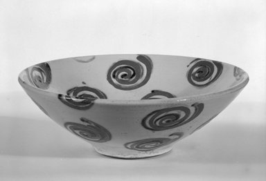 Wayne Higby (American, born 1943). <em>Bowl</em>, ca. 1980. Glazed earthenware, 3 1/4 x 9 3/4 x 3 1/2 in. (8.3 x 24.8 x 8.9 cm). Brooklyn Museum, Gift of Robert Mehlman, 84.278. Creative Commons-BY (Photo: Brooklyn Museum, 84.278_bw.jpg)