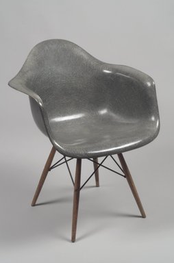 Charles Eames (American, 1907-1978). <em>Armchair</em>, Designed 1950; Manufactured ca. 1951. Fiberglass, plastic, wood, metal, Overall:  33 1/2 x 24 5/8 x 23 1/4 in. (85.1 x 62.5 x 59.1 cm). Brooklyn Museum, Gift of Mr. and Mrs. Anthony W. Roberts, 84.280. Creative Commons-BY (Photo: Brooklyn Museum, 84.280.jpg)