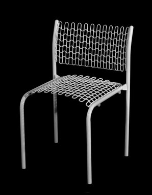 "David Rowland (American, born 1924). <em>""Sof-Tech"" Side Chair</em>, ca. 1979. Tubular steel, plastic-coated springs, 29 7/8 x 19 1/2 x 16 7/8 in. (75.9 x 49.5 x 42.9 cm). Brooklyn Museum, Gift of Thonet, 84.33.2. Creative Commons-BY (Photo: Brooklyn Museum, 84.33.2_bw.jpg)"