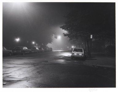 Irwin Silver (American, born 1945). <em>Plaza Street, Brooklyn, New York.  October 13, 1983, 3 A.M.</em>, 1983. Gelatin silver photograph, Sheet: 14 x 11 in. (35.6 x 27.9 cm). Brooklyn Museum, Gift of the artist, 84.44.1. © artist or artist's estate (Photo: , 84.44.1_PS11.jpg)