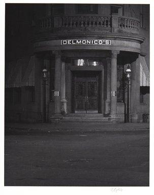 Irwin Silver (American, born 1945). <em>Delmonico's New York City, February 5, 1983, 8 P.M.</em>. Gelatin silver photograph., image: 9 7/16 × 7 7/16 in. (23.9 × 18.9 cm). Brooklyn Museum, Gift of the artist, 84.44.4. © artist or artist's estate (Photo: , 84.44.4_PS11.jpg)