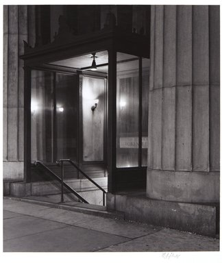 Irwin Silver (American, born 1945). <em>Subway Entrance, American, Telephone and Telegraph Building, NewYork City, October 7, 1979</em>. Gelatin silver photograph, image: 8 7/16 × 7 3/8 in. (21.4 × 18.7 cm). Brooklyn Museum, Gift of the artist, 84.44.5. © artist or artist's estate (Photo: , 84.44.5_PS11.jpg)