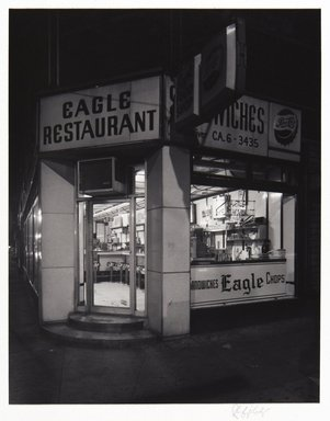 Irwin Silver (American, born 1945). <em>Eagle Restaurant NYC Summer 1981, September 19, 1981, 1:30 A.M.</em>, 1981. Gelatin silver photograph, image: 6 7/8 × 5 3/8 in. (17.4 × 13.6 cm). Brooklyn Museum, Gift of the artist, 84.44.7. © artist or artist's estate (Photo: , 84.44.7_PS11.jpg)
