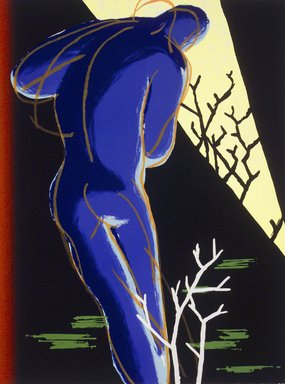 Jedd Garet (American, born 1955). <em>Night Boy</em>, 1983. Lithograph with silkscreen Brooklyn Museum, Designated Purchase Fund, 84.50. © artist or artist's estate (Photo: Brooklyn Museum, 84.50_transpc001.jpg)
