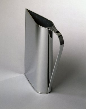 "Peter Muller-Munk (American, born Germany, 1904-1967). <em>""Normandie"" Pitcher</em>, ca. 1935. Chrome-plated brass, 12 x 3 x 9 1/2 in. (30.5 x 7.6 x 24.3 cm). Brooklyn Museum, H. Randolph Lever Fund, 84.67. Creative Commons-BY (Photo: Brooklyn Museum, 84.67_SL1.jpg)"