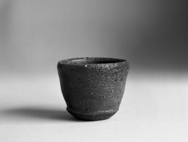 Koyama Fujio (Japanese). <em>Bizen Ware Sake Cup</em>, ca. 1965. Stoneware, 2 x 2 5/8 in. (5.1 x 6.7 cm). Brooklyn Museum, Gift of John M. Lyden, 84.70.1. Creative Commons-BY (Photo: Brooklyn Museum, 84.70.1_bw.jpg)