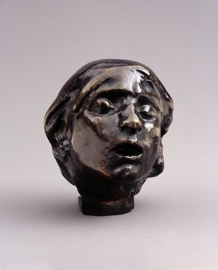 Auguste Rodin (French, 1840-1917). <em>Head of Sorrow, Small Model (Tête de la Douleur, petit modèle)</em>, ca. 1882; cast 1956. Bronze, 3 1/8 × 2 3/4 × 3 1/8 in., 0.5 lb. (7.9 × 7 × 7.9 cm). Brooklyn Museum, Gift of the Iris and B. Gerald Cantor Foundation, 84.75.10. Creative Commons-BY (Photo: Brooklyn Museum, 84.75.10_SL1.jpg)