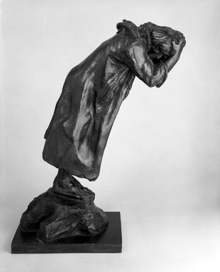 Auguste Rodin (French, 1840-1917). <em>Andrieu d'Andres, Second Maquette (Andrieu d'Andres, deuxième maquette)</em>, 1885; cast 1970. Bronze, 23 1/4 x 18 5/8 x 9 in. (59.1 x 47.3 x 22.9 cm). Brooklyn Museum, Gift of the Iris and B. Gerald Cantor Foundation, 84.75.18. Creative Commons-BY (Photo: Brooklyn Museum, 84.75.18_bw.jpg)