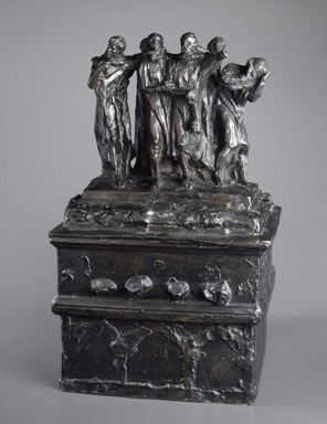 Auguste Rodin (French, 1840-1917). <em>Monument to the Burghers of Calais, First Maquette (Monument des Bourgeois de Calais, première maquette)</em>, November 1884, cast ca. 1967. Bronze, 23 3/4 x 14 7/8 x 13 in. (60.3 x 37.8 x 33 cm). Brooklyn Museum, Gift of the Iris and B. Gerald Cantor Foundation, 84.75.19. Creative Commons-BY (Photo: Brooklyn Museum, 84.75.19_large_SL3.jpg)