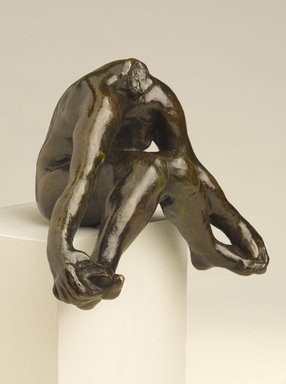 Auguste Rodin (French, 1840-1917). <em>Seated Bather with Feet Apart (Baigneuse assise, pieds écartés)</em>, 1895-1900; cast after 1972. Bronze, 5 1/2 × 7 × 4 1/2 in. (14 × 17.8 × 11.4 cm). Brooklyn Museum, Gift of the Iris and B. Gerald Cantor Foundation, 84.75.1. Creative Commons-BY (Photo: Brooklyn Museum, 84.75.1_PS9.jpg)