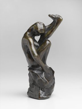 Auguste Rodin (French, 1840-1917). <em>Despair, Known as Despair from the Gates (Le Désespoir dit de la Porte)</em>, 1880-1889, cast 1959. Bronze, 7 1/4 × 3 1/2 × 3 3/4 in., 2 lb. (18.4 × 8.9 × 9.5 cm, 0.91kg). Brooklyn Museum, Gift of the Iris and B. Gerald Cantor Foundation, 84.75.2. Creative Commons-BY (Photo: Brooklyn Museum, 84.75.2_PS2.jpg)