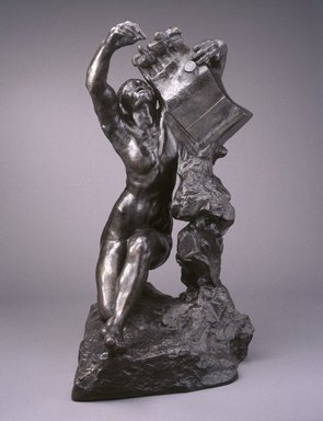 Auguste Rodin (French, 1840-1917). <em>Orpheus (Orphée)</em>, 1908, cast 1980. Bronze, 57 1/2 x 30 x 49 1/4 in.  (146.1 x 76.2 x 125.1 cm). Brooklyn Museum, Gift of the Iris and B. Gerald Cantor Foundation, 84.75.3. Creative Commons-BY (Photo: Brooklyn Museum, 84.75.3_SL1.jpg)